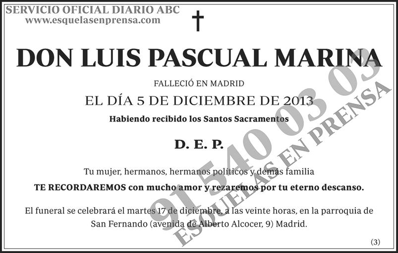 Luis Pascual Marina